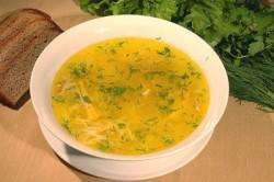 Супы на нежирном курином бульоне